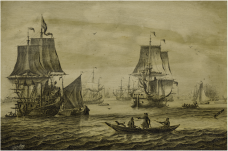 adriaen-van-salm---a-dutch-man-of-war-with-a-flotilla-of-fishing-boats-and-other-ships---a-penschilderij.png