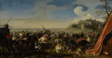 jacques-courtois,-called-borgognone---a-battle-scene-with-soldiers-on-horseback,-a-walled-city-raised-on-a-hill-beyond.jpg